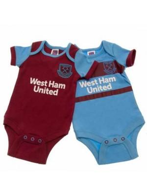 West Ham United FC 2 Pack Bodysuit 12/18 Months SK