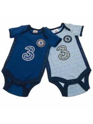 Chelsea FC 2 Pack Bodysuit 6/9 Months SK