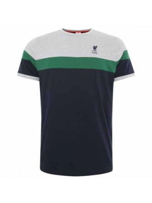 Liverpool FC Retro Panel T Shirt Mens Navy S