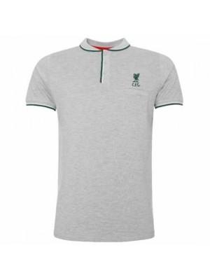 Liverpool FC Birdseye Polo Mens Grey M