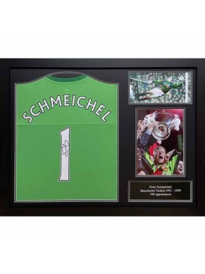 Manchester United FC Schmeichel Signed Shirt (Framed)