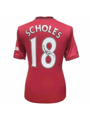 Manchester United FC Scholes Signed Shirt