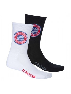 FC Bayern Munchen Sports Socks (Set of 2)