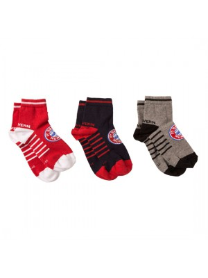 FC Bayern Munchen Sneaker Socks Kids (Set of 3)