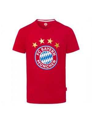 FC Bayern Munchen T-Shirt Logo Red