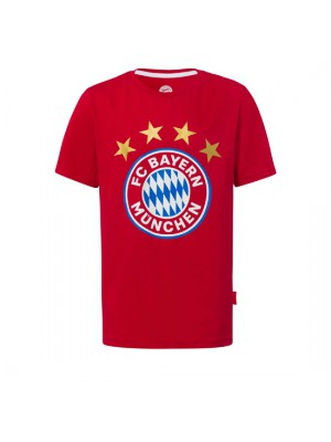 FC Bayern Munchen T-Shirt Logo Red Kids