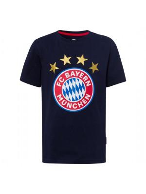 FC Bayern Munchen T-Shirt Logo Navy Kids