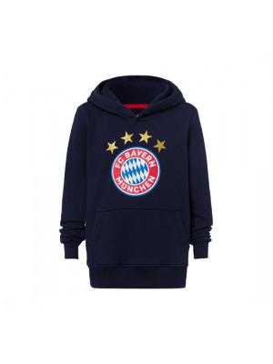 FC Bayern Munchen Hoodie Logo Navy Kids