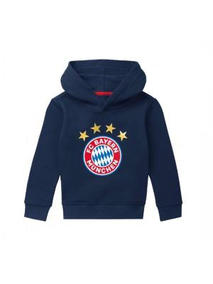 FC Bayern Munchen Hoodie Logo Navy Infants