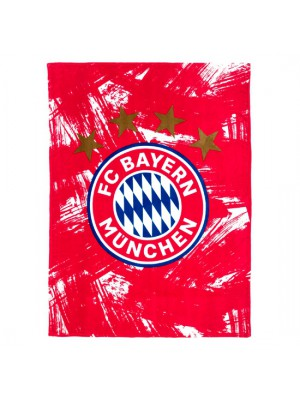 FC Bayern Munchen Blanket Fleece red/white