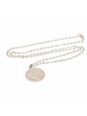 Manchester City FC Silver Plated Pendant & Chain