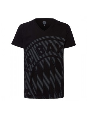 FC Bayern Munchen Shirt Big Logo Black