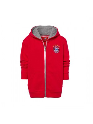FC Bayern Munchen Hooded Jacket Classic Kids Red
