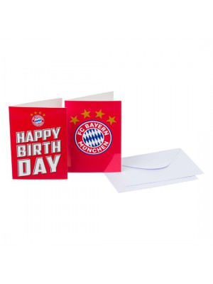 FC Bayern Munchen Card-Set Happy Birthday / Logo