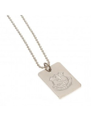 Everton FC Silver Plated Dog Tag