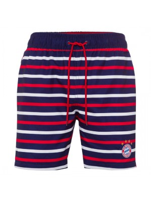 FC Bayern Munchen Striped Swimming Shorts