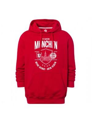 FC Bayern Munchen Hoodie Meine Heimat Mein Verein Red