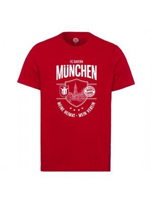 FC Bayern Munchen T-shirt Meine Heimat Mein Verein Red