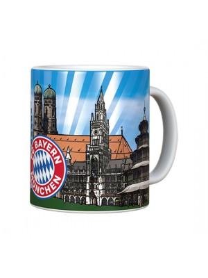 FC Bayern Munchen Tasse Skyline Metallic