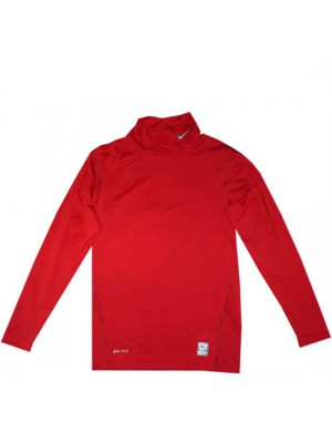 pro combat compression mock shirt - red