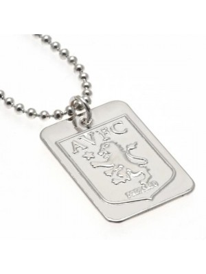 Aston Villa FC Silver Plated Dog Tag & Chain