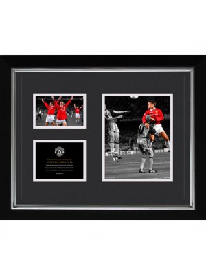 Manchester United FC Historic Moments Picture Sheringham 16x20