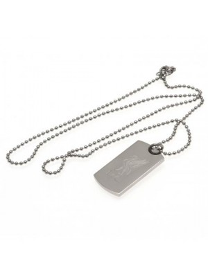 Liverpool FC Engraved Crest Dog Tag & Chain LB