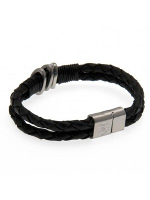 Arsenal FC Leather Bracelet