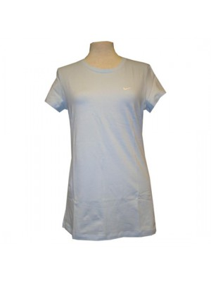 long crew neck solid tee - womens