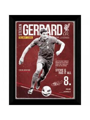 Liverpool FC Picture Gerrard Retro 16 x 12