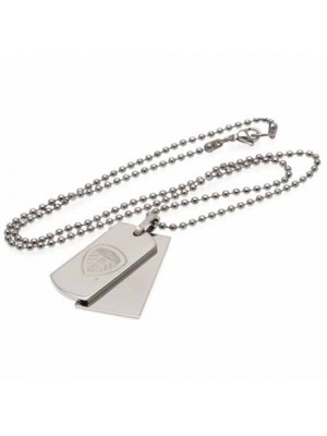 Leeds United FC Double Dog Tag & Chain