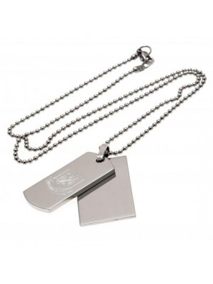 West Ham United FC Double Dog Tag & Chain CT