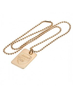 Arsenal FC Gold Plated Dog Tag & Chain