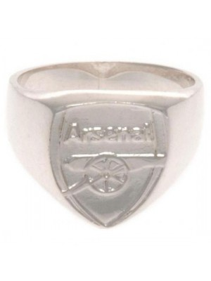 Arsenal FC Sterling Silver Ring Medium