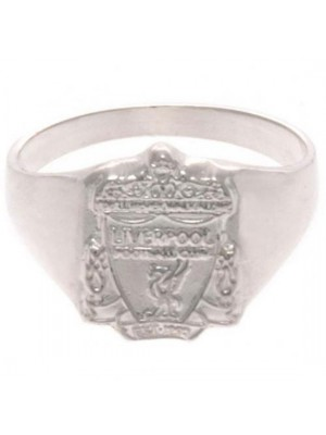 Liverpool FC Sterling Silver Ring Medium