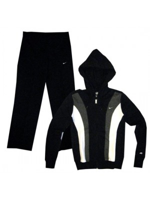 hooded training suit - womens - black