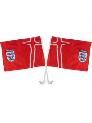 England FA Car Flag Twin Pack