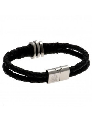 Newcastle United FC Leather Bracelet