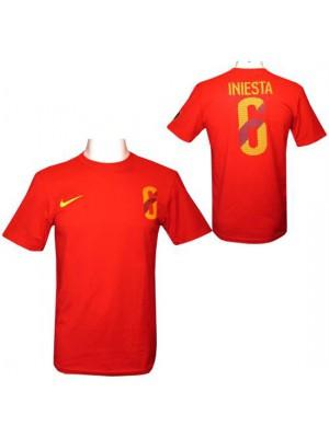 FC Barcelona Iniesta Nike Hero T Shirt Mens M