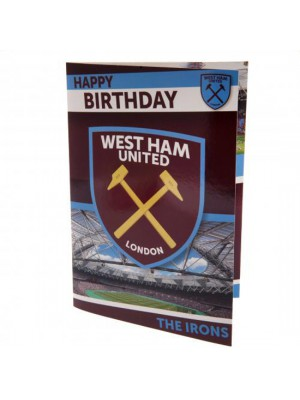 West Ham United FC Musical Birthday Card