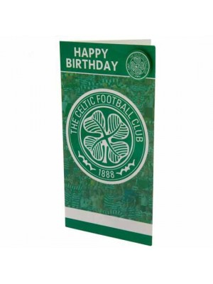Celtic FC Birthday Card & Badge