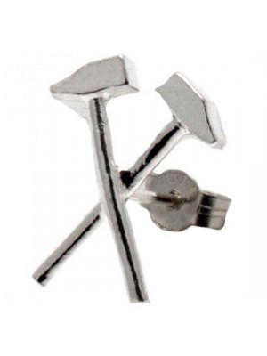 West Ham United FC Sterling Silver Stud Earring
