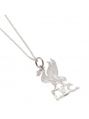 Liverpool FC Sterling Silver Pendant & Chain LB