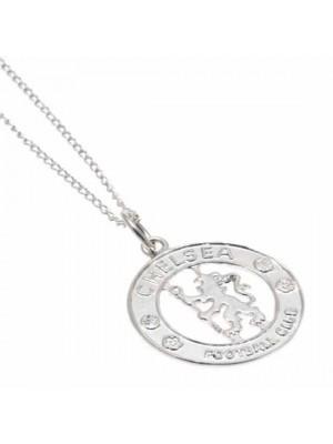Chelsea FC Sterling Silver Pendant & Chain CR