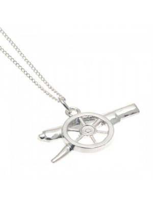 Arsenal FC Sterling Silver Pendant & Chain GN