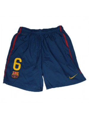 Barcelona home shorts - number 6