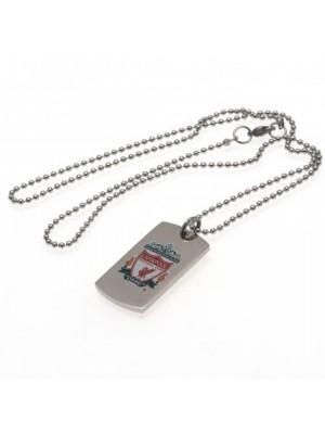 Liverpool FC Colour Crest Dog Tag & Chain