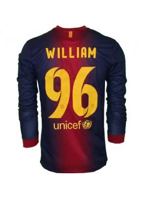 Barcelona long sleeve custom home jersey William 96