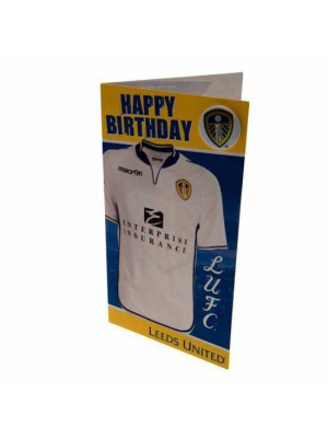 Leeds United FC Birthday Card Shirt