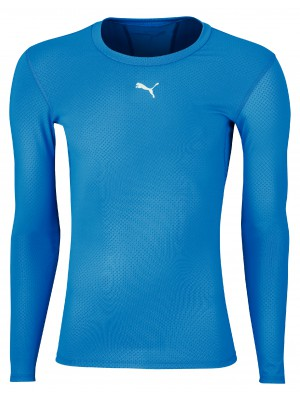 Puma compression tee long sleeve - blue